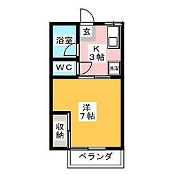 アビタシオン岡部[1階]の間取り