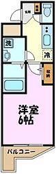 東急田園都市線 鷺沼駅 徒歩8分の賃貸マンション 4階1Kの間取り