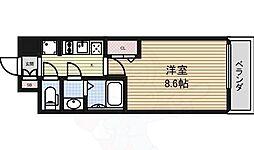 プレサンス大須観音ディオ 2階1Kの間取り