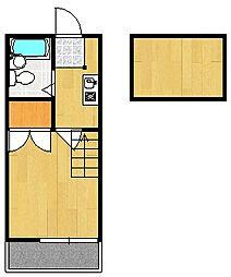 山科第15マンション[1階]の間取り