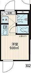 JR総武線 大久保駅 徒歩5分の賃貸アパート 2階ワンルームの間取り