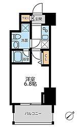 横浜市営地下鉄ブルーライン 横浜駅 徒歩12分の賃貸マンション 10階1Kの間取り