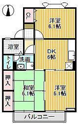 メゾン栄町Ⅱ[1階]の間取り