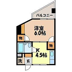 長崎県諫早市小船越町の賃貸マンションの間取り