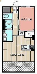 (仮)本城東マンション[207号室]の間取り