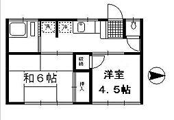 第二中井荘[203号室]の間取り