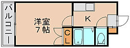 アニマート博多駅東[2階]の間取り