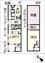 クオーレ トラストII[1階]の間取り