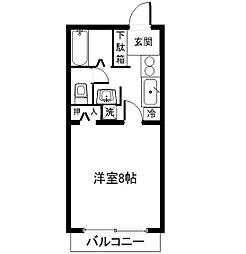 茨城県つくば市桜2丁目の賃貸マンションの間取り