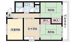 愛知県長久手市戸田谷の賃貸アパートの間取り