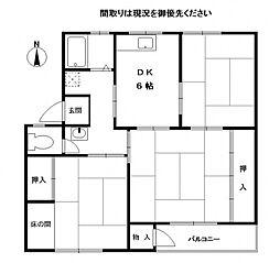 兵庫県神戸市東灘区渦森台2丁目の賃貸マンションの間取り