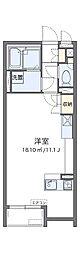 大阪モノレール本線 南摂津駅 徒歩33分の賃貸アパート 1階ワンルームの間取り