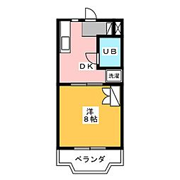 Gハイツ城之崎[2階]の間取り