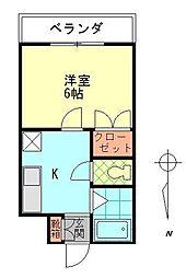 シャトレ原新町[3階]の間取り