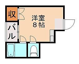 福岡県福岡市城南区田島2丁目の賃貸アパートの間取り