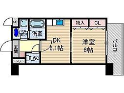 サクシード胤[4階]の間取り