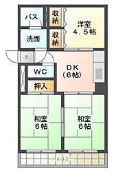 DIMANCHE SHIMIZU[4階]の間取り