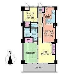アーウィン戸塚ヒルズ[5階]の間取り