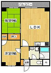 第五双基マンション[9階]の間取り