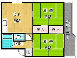 高塚コーポラス[1階]の間取り