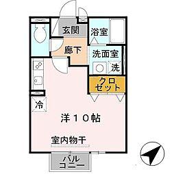 エスポワールTAYA[2階]の間取り