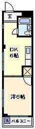フジヤコーポ[2階]の間取り