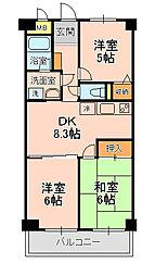 LAZFITH SHINYABASHIRA[304号室]の間取り
