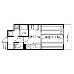 愛知県名古屋市天白区植田東2丁目の賃貸マンションの間取り