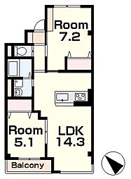 仮)本堅田4丁目新築マンション[3階]の間取り