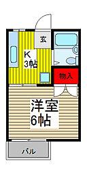 カーサヴェルテ関谷2[2階]の間取り