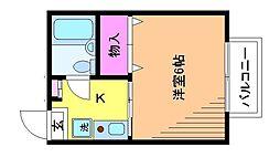 第1ハイアール[1階]の間取り
