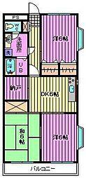 ピース嶋村(シマムラ)[3階]の間取り