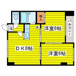 北海道札幌市東区北十八条東1丁目の賃貸マンションの間取り