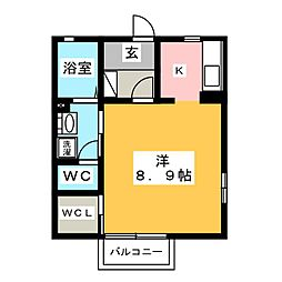 メゾン開運[2階]の間取り