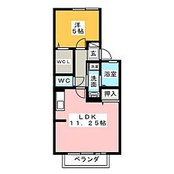エイト メダリア[1階]の間取り