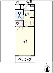 ガーデンビル城下[6階]の間取り