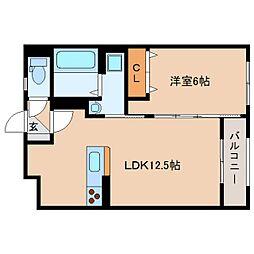静岡県静岡市清水区七ツ新屋2丁目の賃貸マンションの間取り
