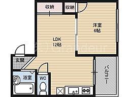 ハイツ安井[4階]の間取り