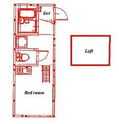 仮称)長後アパートA号棟[101号室]の間取り