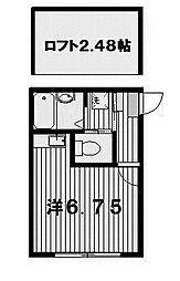 ルロジェ[2階]の間取り
