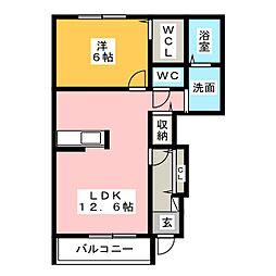 カトルセゾンA[1階]の間取り