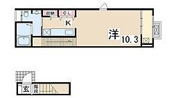 アクティークH.K[2階]の間取り