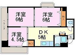 第3宮地マンション記念橋[508号室]の間取り