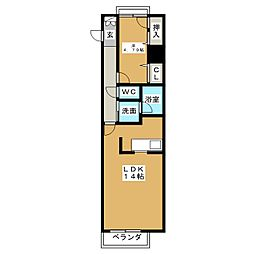 LE CENTENAIRE[4階]の間取り