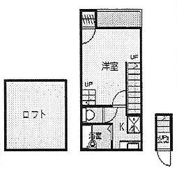 サニーサイド西日暮里[2階]の間取り