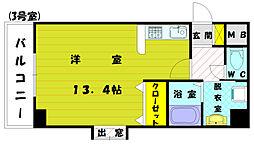 宗像北田マンション[2階]の間取り