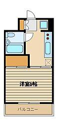 東京都練馬区上石神井4の賃貸マンションの間取り