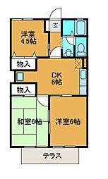 神奈川県相模原市中央区千代田7丁目の賃貸アパートの間取り