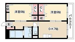 愛知県名古屋市瑞穂区玉水町1丁目の賃貸アパートの間取り