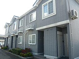 滋賀県愛知郡愛荘町石橋の賃貸アパートの外観